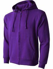 Mens ZIP UP HOODIE Jacket Fleece Pocket Sport Active Hooded Shirt Midweight