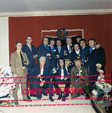 "ELVIS PRESLEY December 1970 8x10 Photo the ""MEMPHIS MAFIA"""