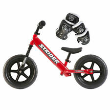 Strider 12 Classic Balance Bike for Kids + Elbow and Knee Pads RED