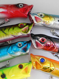 New for 2017 Fishing lure surface popper 8 colours