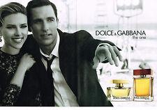PUBLICITE ADVERTISING 025  2014  DOLCE & GABBANA parfum THE ONE SCARLETT JOHANNS
