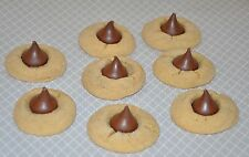 12 Peanut Butter Blossom  Chocolate Hershey's Kisses  Cookies  YUMMY !