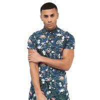 Crosshatch New Mens Short Sleeve Shirt 2019 Summer Eryngium