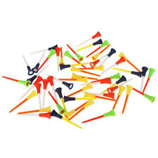 """50pcs Colorful 3 1/4"""" inch Length Rubber Cushion Top Plastic Golf Tees 83mm"""