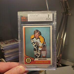 1974-75 O-Pee-Chee #100 Bobby Orr  BVG 7  Boston Bruins