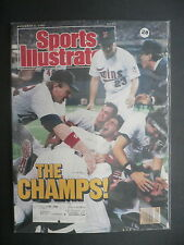 Sports Illustrated November 2, 1987 Minnesota Twins Frank Viola MLB Nov '87 D