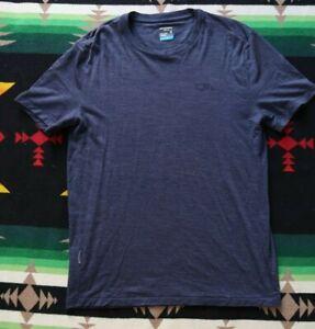 Icebreaker Cool Lite Merino Blend Sphere Men Medium Dark Blue Short Sleeve Shirt