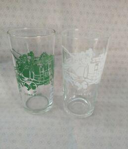 2 different 1960s Cobb & Co dine-in restaurant promotional glasses pyro glazed