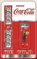 "COCA COLA VENDING MACHINE PRINTED ADHESIVE VINYL DECAL FRIDGE 20.25"" W X 32"" H"