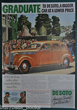 1937 DeSoto advertising page, DE SOTO Automobile, color