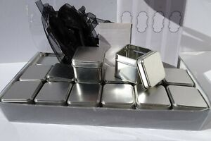 Silver Square Metal MINT TIN FAVOR BOXES Party Gift Box Wedding Event Supplies