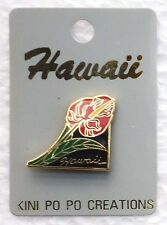 HAWAIIAN COLLECTABLE HAWAII ANTHURIUM FLOWER PIN