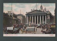 Royal Exchange & Bank  London  vintage    postcard  za21