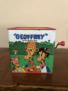 RARE Works! Vintage Mattel Toys R Us Geoffrey Giraffe Music Toy Jack In The Box