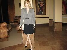 NWOT KASPER Wool Jacket in Black & White, Size 6.