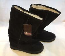 "New UKALA by EMU Australia Merino Wool Lining Black 13"" Tall Boots Size 8W"