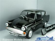 FORD ANGLIA CAR MODEL 1:43 SIZE BLACK CR046 CARARAMA 1960'S SALOON 105 T3