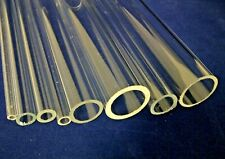 Clear Plastic Acrylic Perspex Tube 100mm 200mm 300mm lengths 5mm - 25mm Diameter
