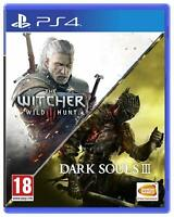 The Witcher 3 Wild Hunt & Dark Souls III Playstation 4 PS4 **FREE UK POSTAGE**