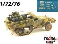Redog 1:72 -  US Half track - resin stowage kit scale modelling dioramas