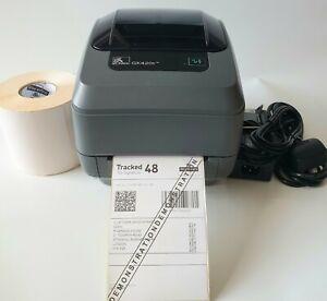 Zebra GK420t  Direct or Thermal Transfer Network Label Printer PSU USB Cable 611