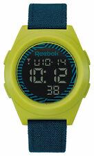 New REEBOK Block Party Digital Mens Sport Blue Green Watch RC-DBN-G9-PGCL-BG