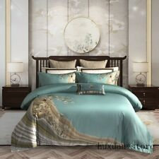 Duvet Cover Bed Sheet Set 1000TC Egyptian Cotton Luxury Bedding Set Queen King