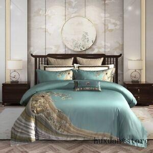 Duvet Cover Bed Sheet Set 1000TC Egyptian Cotton Luxury Bedding Set Queen King