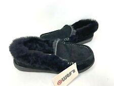 Lamo Women's Candace Slip On Fur Lined Slippers Black #MU1896 Size:9 141R tz