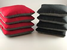 SET OF 8 DUAL SIDE SLICK & STICK CORNHOLE BAGS RED & BLACK FREE SHIPPING!!!