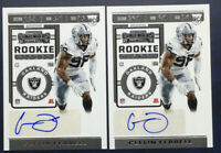 2019 Panini Contenders CLELIN FERRELL 2 Card Lot ROOKIE TICKET AUTO RC Raiders