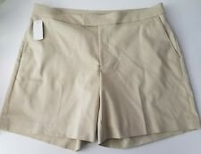 Chaps Women's Casual Shorts Size 14 Beige Cotton Blend New