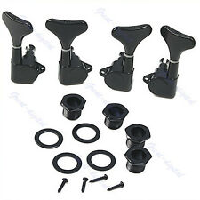 New Guitar Sealed Tuners Tuning Pegs Machine Heads 2R2L For 4 String Bass Black