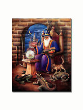Wizard Crystal Ball Baby Dragons Wall Picture 8x10 Art Print