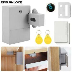 Door Lock Front Set Smart Hidden Battery RFID Cabinet Drawer Bedroom Bathroom