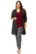 Treggings de magna ®: Jeggings legging pantalón elástico Allover Print gris negro