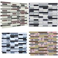 3D Mosaic Wall Panels Tiles Stickers Peel and stick Backsplash Kitchen Bathroom