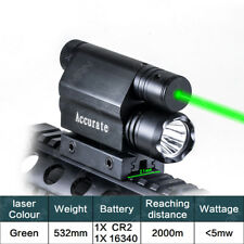 Tactical Combo Green Laser Sight+CREE LED Flash Light For 20mm Rail Mount Pistol