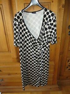 Samoon Kleid by Gerry Weber Neu im modischen Ringel Jersey braun-weiß Damen Gr.