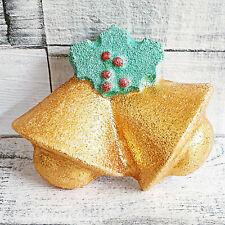 🔔 Bells & Holly Mould, Bath Bomb Jelly Soap Plaster Model Wax Christmas Mold UK