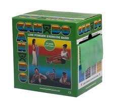 CanDo Low Powder Exercise Band-25 yard roll-Green-medium-1232239 10-5273 NEW