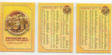 2011 AFL SELECT CHAMPIONS COMMON CHECKLIST set 3 cards