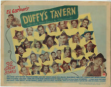 CROSBY, LAMOUR, HUTTON • DUFFY'S TAVERN Title Card • 1945 • VG • PARAMOUNT