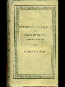 BIBLIOTECA UNIVERSALE DI SCELTA LETTERATURA ANTICA E MODERNA   BETTONI 1829