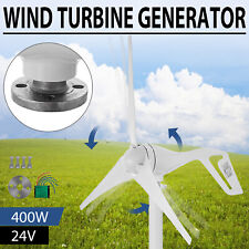 Max 400W Wind Turbine Generator Kit 3 Blades DC 24V With Charge Controller White