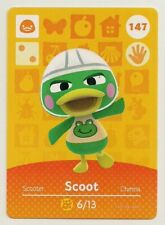 Animal Crossing amiibo Card Scoot 147 Series 2 Duck New Horizons Popular Scooter