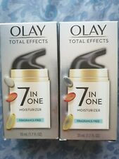 Lot of 2 Olay Total Effects 7 in 1 Moisturizer FRAGRANCE FREE 1.7 fl oz