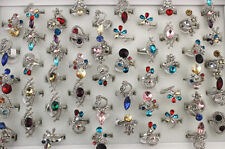 47pcs Trendy Jewelry Mixed Style Rhinestone Rings Women Lady's Party Gifts EH592