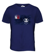 FRENCH SOUTHERN AND ANTARCTIC LANDS DISTRESSED FLAG MENS T-SHIRT TOP GIFT SHIRT