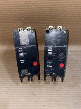 NEW GENERAL ELECTRIC GE TEY TEY215  2 POLE 15 AMP 480v/277v CIRCUIT BREAKER